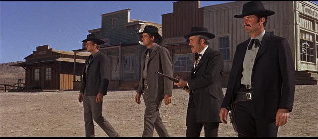 Wyatt Earp (James Garner), Doc Holliday (Jason Robards) and the Earp brothers mean business in John Sturges' Hour of the Gun (1967)