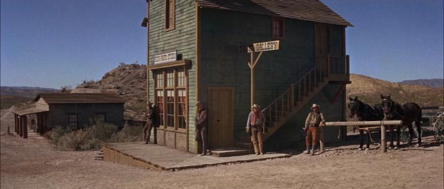 Clanton's men wait for the Earps to arrive at the O.K. Corral in John Sturges' Hour of the Gun (1967)