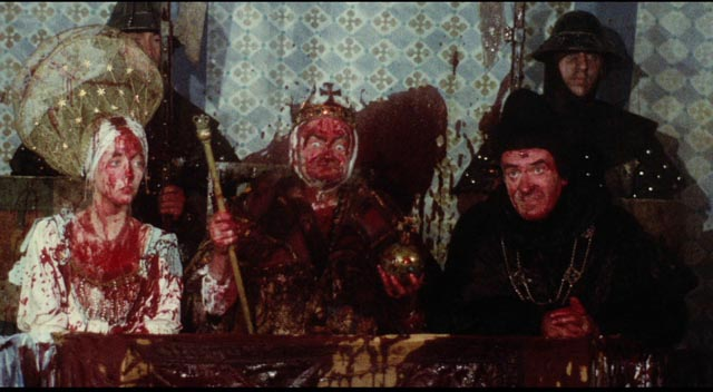 King Bruno the Questionable enjoys the counterproductive contest to find a champion in Terry Gilliam's Jabberwocky (1977)