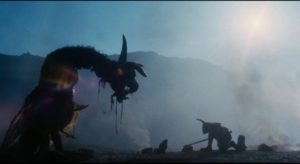The king's champion finally meets the monster in Terry Gilliam's Jabbberwocky (1977)