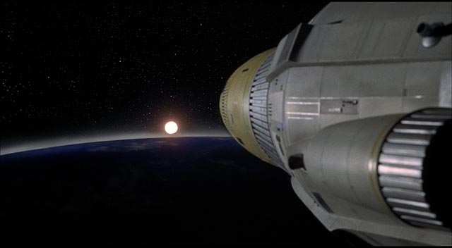 On the way to a newly discovered mirror Earth in Journey to the Far Side of the Sun (1969)
