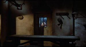 The malevolent spirit of Melissa Graps stalks the villagers who let her die in Mario Bava's Kill, Baby ... Kill! (1966)