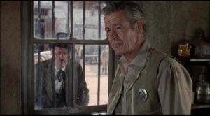Robert Ryan as a sheriff without moral authority in Michael Winner's Lawman (1971)