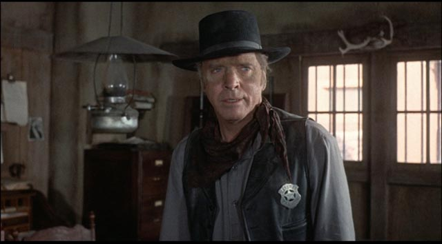 The black hat signals a compromised hero: Burt Lancaster in Michael Winner's Lawman (1971)