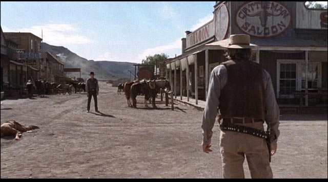 The final pointless showdown in Michael Winner's Lawman (1971)