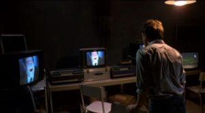 Stefano (Gabiele Rossi-Stuart) watches a sinister resurrection via coffin-cam in Pupi Avati's Zeder (1983)