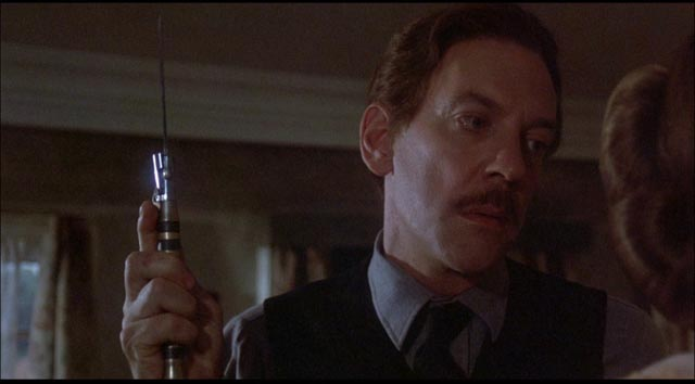 Donald Sutherland demonstrates why his code-name is Needle in Richared Marquand's Eye of the Needle (1981)