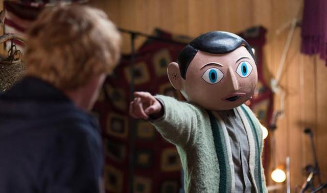 Michael Fassbender behind the mask as Frank in Lenny Abrahamson's 2014 film