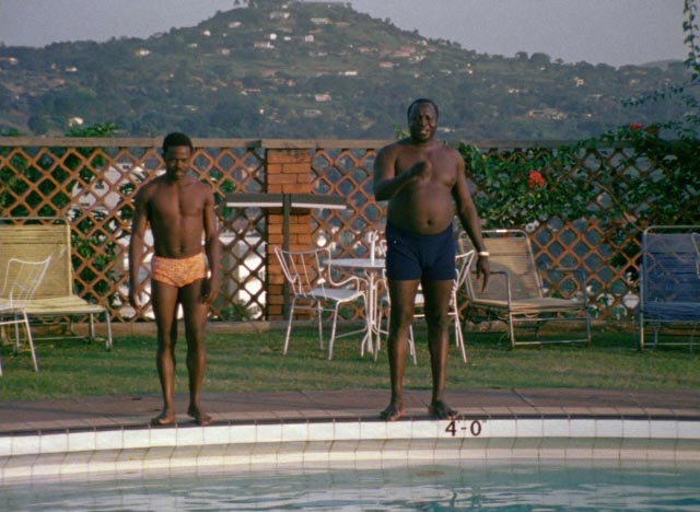 Amin prepares to demonstrate his athletic prowess in General Idi Amin Dada: A Self-Portrait (1974)
