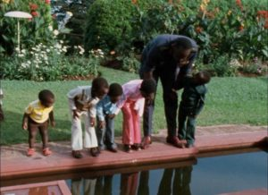 Amin relaxes with some of his children in Barbet Schroeder's General Idi Amin Dada: A Self-Portrait (1974)