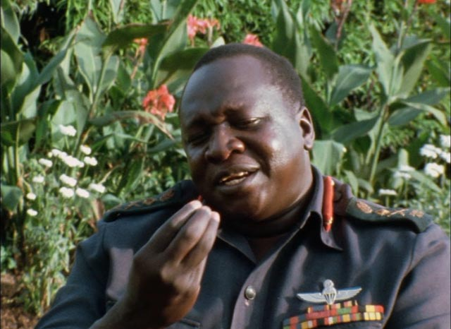 Idi Amin as amiable host in Barbet Schroeder's General Idi Amin Dada: A Self-Portrait (1974)