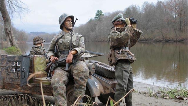 One of Mark Hogancamp's WW2 photo-dioramas in Jeff Malmberg's Marwencol (2010)