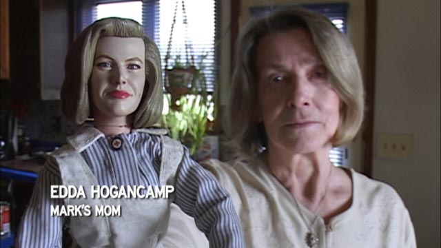 Mark Hogancamp's mother with her doll alter-ego in Jeff Malmberg's Marwencol (2010)