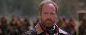 Will Patton as General Bethlehem, a petty tyrant taking advantage of the end of civilization in Kevin Costner's The Postman (1997)