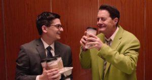 Dougie Jones (Kyle MacLachlan) loves his coffee in David Lynch's Twin Peaks (2017)