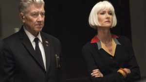 David Lynch as Gordon Cole, with Diane (Laura Dern) in David Lynch's Twin Peaks (2017)