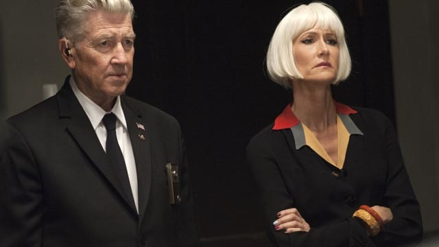 David Lynch as Gordon Cole, with Diane (Laura Dern) in David Lynch's Twin Peaks (2017)