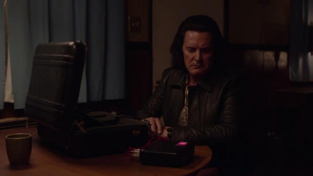 Evil Cooper on an obscure mission in David Lynch's Twin Peaks (2017)