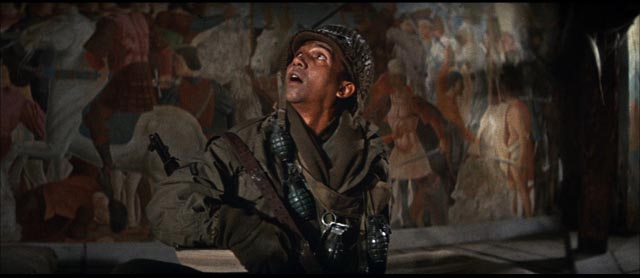 Private Benjamin (Al Freeman Jr), the young chronicler of the destruction of Western civilization in Sydney Pollack's Castle Keep (1969)
