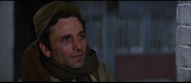 Sergeant Rossi (Peter Falk), a baker who wants only to provide sustenance in the midst of death in Sydney Pollack's Castle Keep (1969)