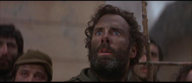 Lt. Billy Bix (Bruce Dern), descends into religious mania as a rejection of war in Sydney Pollack's Castle Keep (1969)