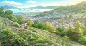 The view of the Japanese navy in Kure harbour in Sunao Katabuchi's In This Corner of the World (2016)