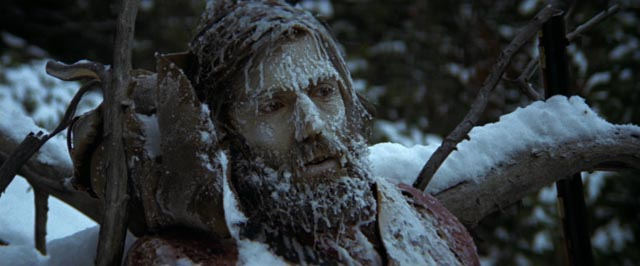 Jeremiah encounters a warning of the dangers he faces alone in the mountains in Sydney Pollack's Jeremiah Johnson (1972)