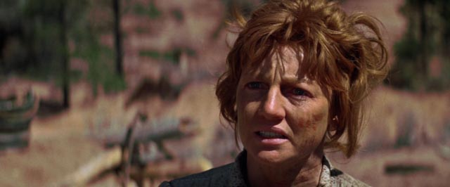 The settler woman (Allyn Ann McLerie) driven mad by the slaughter of her family in Sydney Pollack's Jeremiah Johnson (1972)