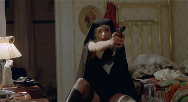Religion is no protection from the horrors of Thana's world in Abel Ferrara's Ms. 45 (1981)