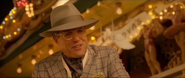 Hugh Grant as the unscrupulous actor Phoenix Buchanan in Paul King's Paddington 2 (2017)