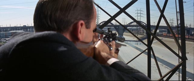 Walker is targeted by the mob in John Boorman's Point Blank (1967)