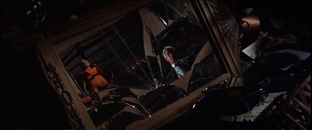 Walker (Lee Marvin)'s world fragments as he pursues his single-minded quest in John Boorman's Point Blank (1967)