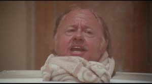 Mickey Rooney as connected has-been star Preston Gilbert in Mike Hodges' Pulp (1972)