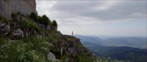The ruined castle of Montségur dominates the spectacular landscape of southwestern France in Richard Stanley's The Otherworld (2013)