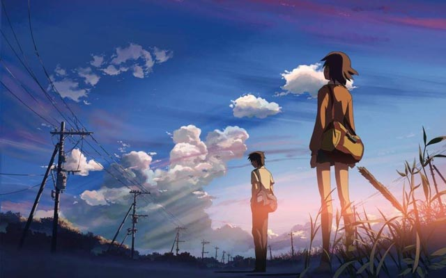 Cosmic forces shape the lives of Mitsuha and Taki in Makoto Shinkai's Your Name (2016)
