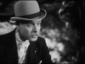 Le duc d'Aubières (André Luguet) is smitten with a free-spirited girl (Odette Joyeux) in Claude Autant-Lara's Le mariage de Chiffon (1942