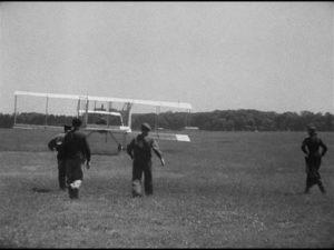 Chiffon's uncle Marc rises briefly into the air in Claude Autant-Lara's Le mariage de Chiffon (1942)