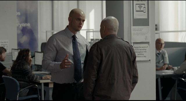 Treated with contempt and condescension by the privatized staff at the Job Centre in Ken Loach's I, Daniel Blake (2016)