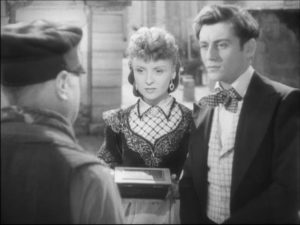 The discarded love letters find their way back to Zélie and their unacknowledged author François (François Périer) in Claude Autant-Lara's Lettres d'amour (1942)