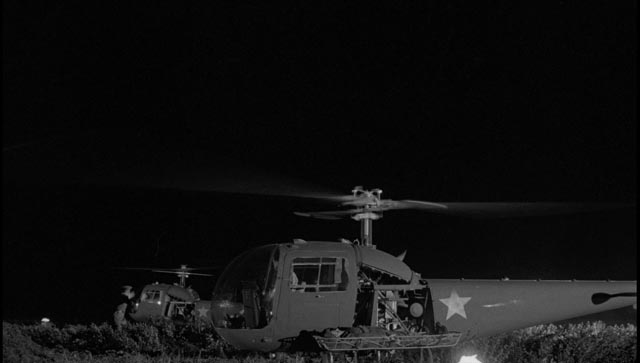 The unit are picked up by Russian helicopters in John Frankenheimer's The Manchurian Candidate (1962)