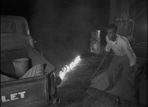 Competence collapses in a moment of crisis, ending any hope of escape in George A. Romero's Night of the Living Dead (1968)
