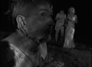 Human flesh-eating on-screen for the first time in George A. Romero's Night of the Living Dead (1968)