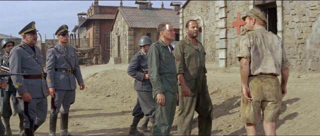 Col. Joseph L. Ryan (Frank Sinatra) takes charge in the Italian prison camp in Mark Robson's Von Ryan's Express (1965)