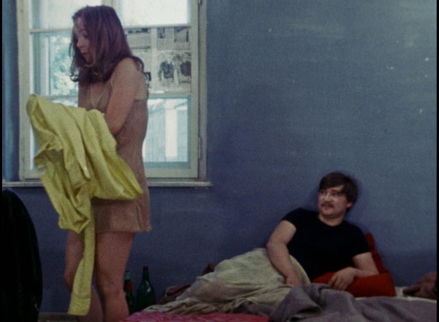 Having seduced Johanna (Irmgard Paulis), Baal discards her in Volker Schlondorff's Baal (1970)
