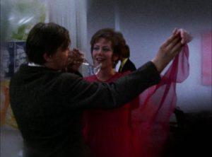 Baal seduces Emilie (Miriam Spoerri) in her husband's bourgeois salon in Volker Schlondorff's Baal (1970)