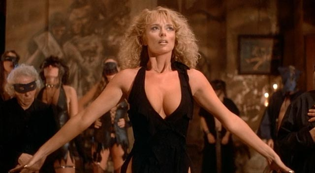 Sybil Danning as werewold/witch Stirba rules over a bestial cult in Philippe Mora's Howling II (1985)