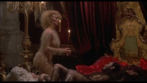 In between eating peasants these werewolves enjoy an occasional orgy in Philippe Mora's Howling II (1985)