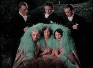 The Rhythm Boys, featuring a pre-stardom Bing Crosby, serenade the Brox Sisters in John Murray Anderson's King of Jazz (1930)