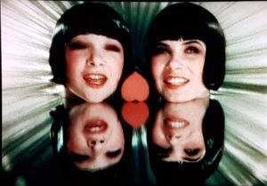 """The charming Sisters G, cheerfully boxed in during """"Happy Feet"""" in John Murray Anderson's King of Jazz (1930)"""