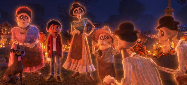 Miguel crosses over into the realm of the dead in Pixar's Coco (2017)